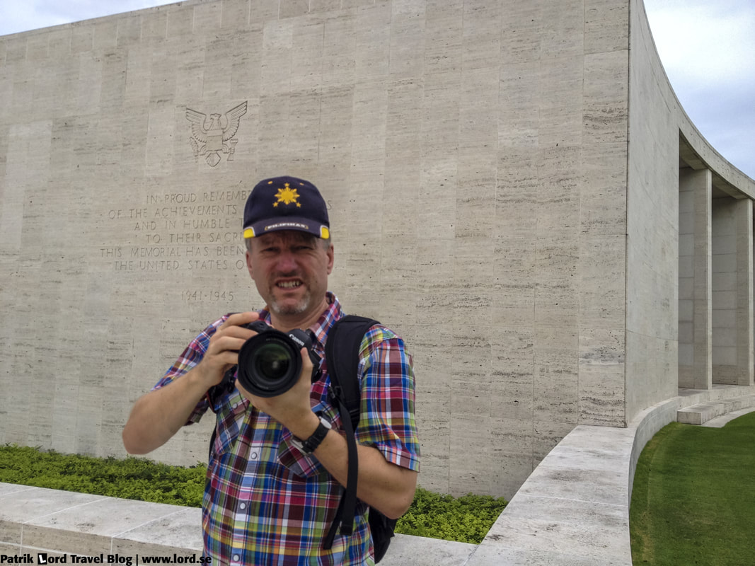 Manila American Cemetery, Me and the walls with the missing names, Manila, Philippines © Patrik Lord Travel Blog
