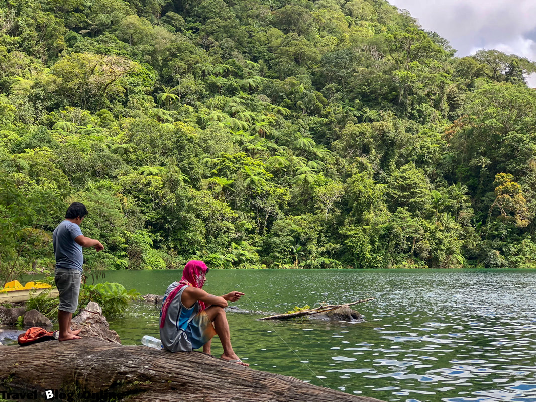 Balinsasayao Twin Lakes, Two Fishermen, Dumaguete, Negros Oriental, Philippines © travelblogonline.com