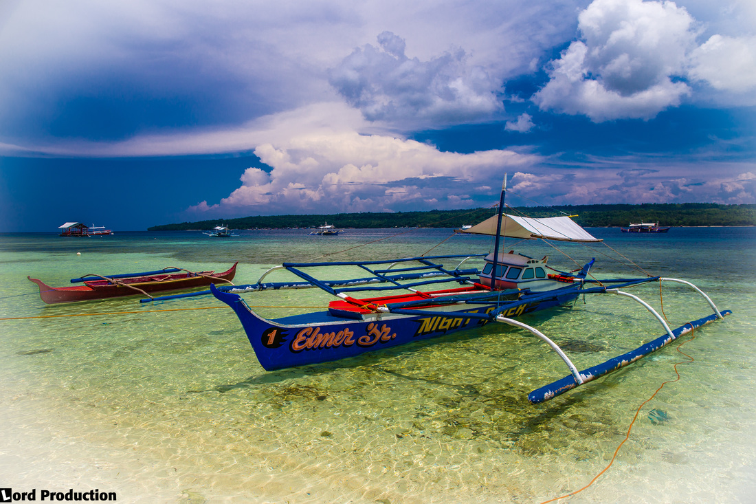 Bangka, boat at Samal Island, Philippines