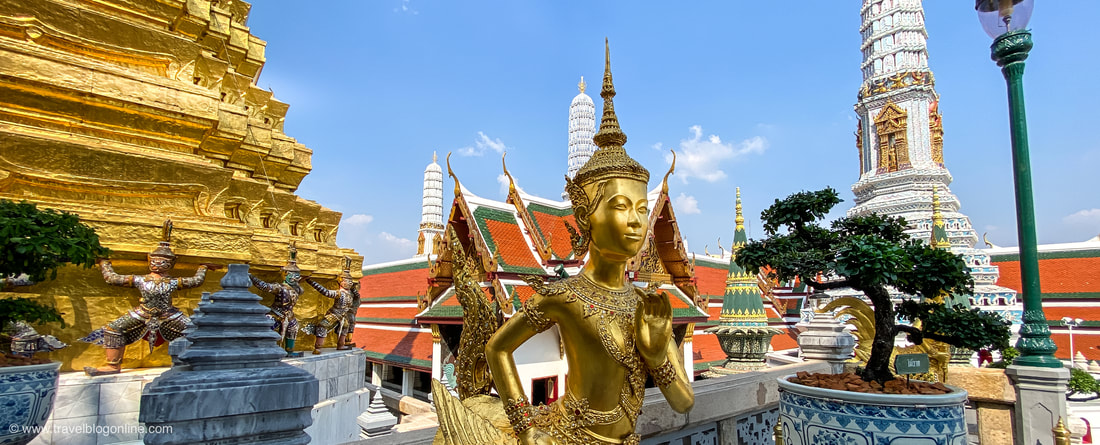 Bangkok, Thailand, The Grand Palace, Monkey © www.travelblogonline.com