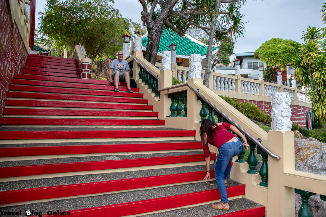 Cebu Taoist Temple, The stairs, Cebu City, Philippines © travelblogonline.com