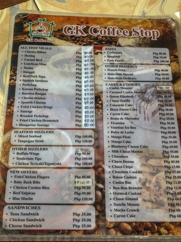 GK Coffee Shop, The Menu, Dumaguete, Philippines © Patrik Lord Travel Blog
