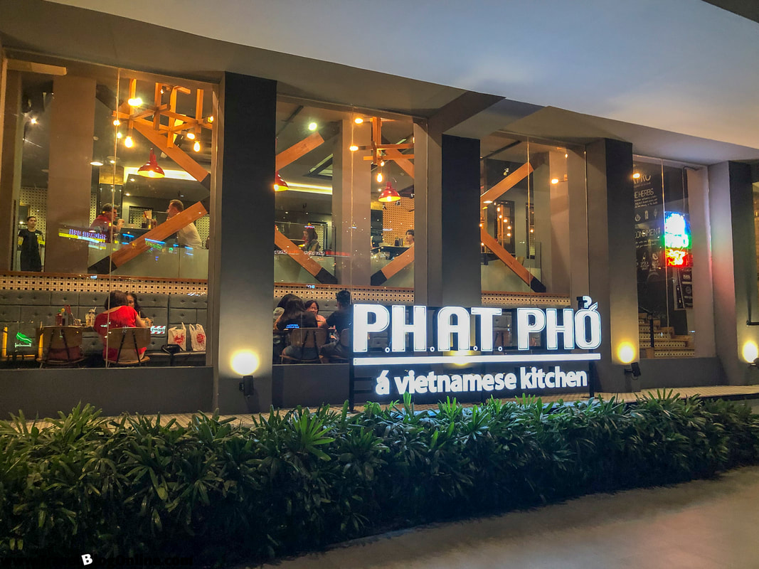 Phat Pho a Vietnamese kitchen, Outside, Ayala center, Cebu City, Philippines © travelblogonline.com