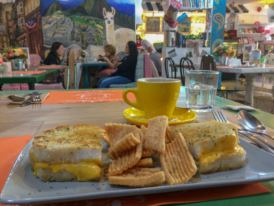 Review of Chapters Café, Cheese Sandwich, Dumaguete, Negros, Philippines © Patrik Lord Travel Blog