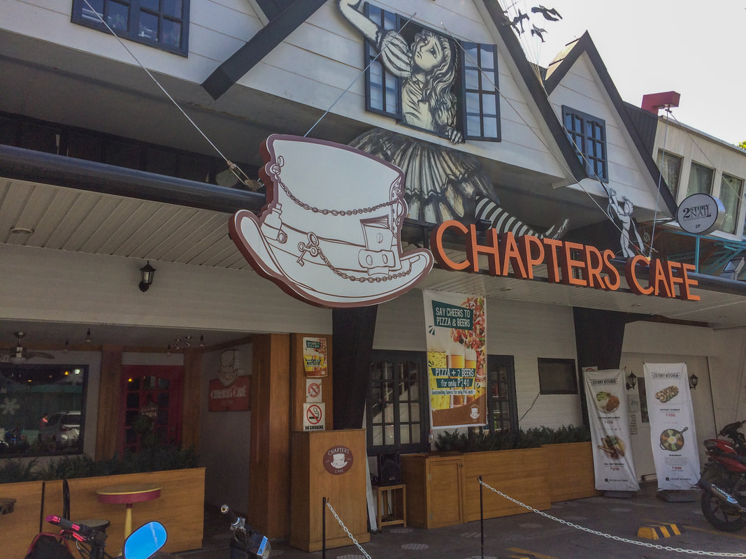 Review of Chapters Café, Entrance, Dumaguete, Negros, Philippines © Patrik Lord Travel Blog