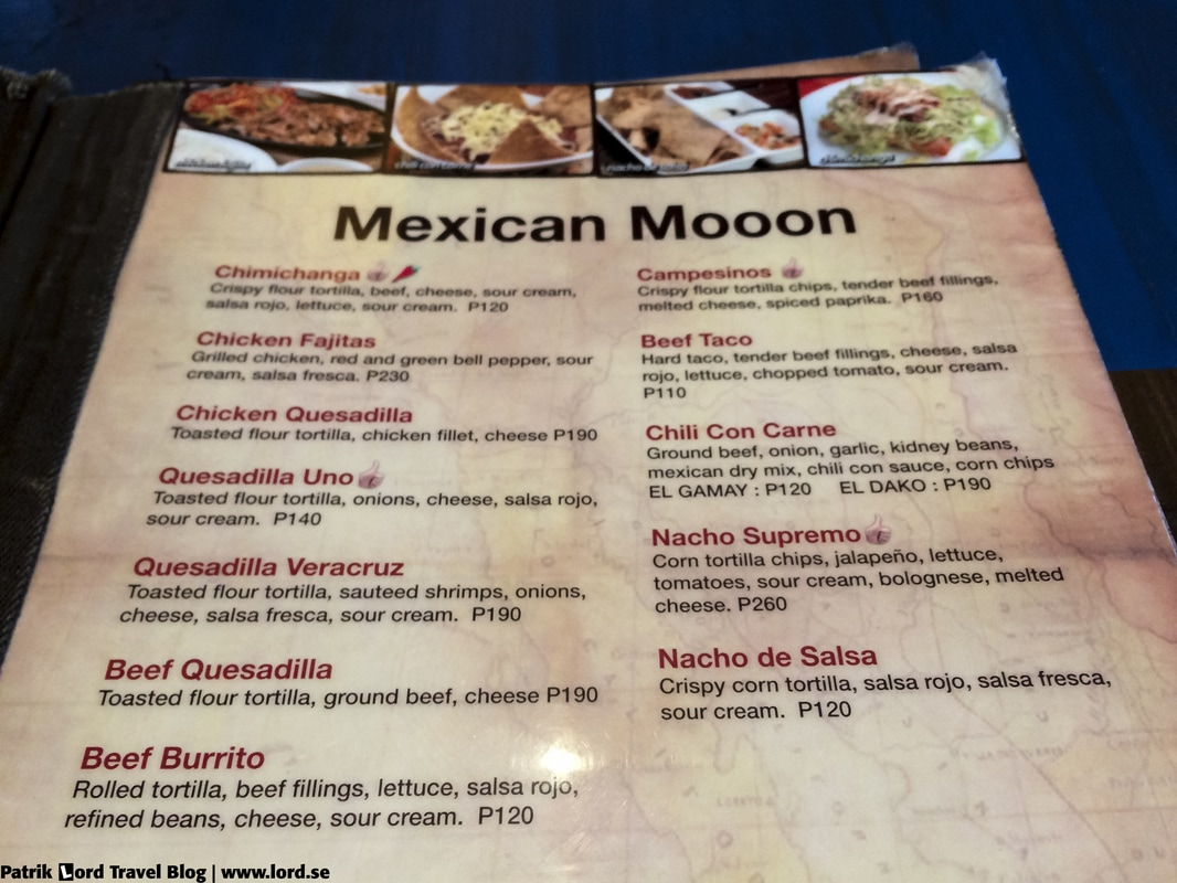 Review of Mooon Café Menu Robinsons Place Dumaguete Negros Oriental Philippines © Patrik Lord Travel Blog