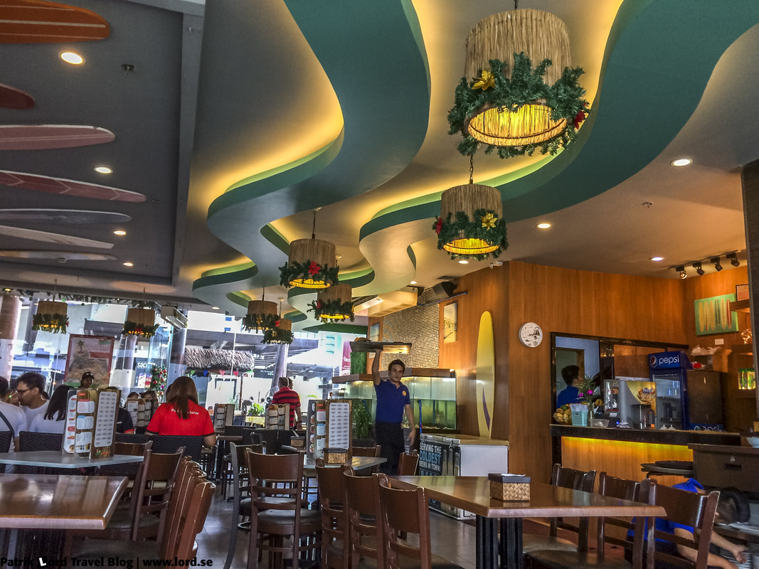 An interior shot of Seafood Island Restaurant, Ayala Mall Cebu city, Philippines © Patrik Lord Travel Blog