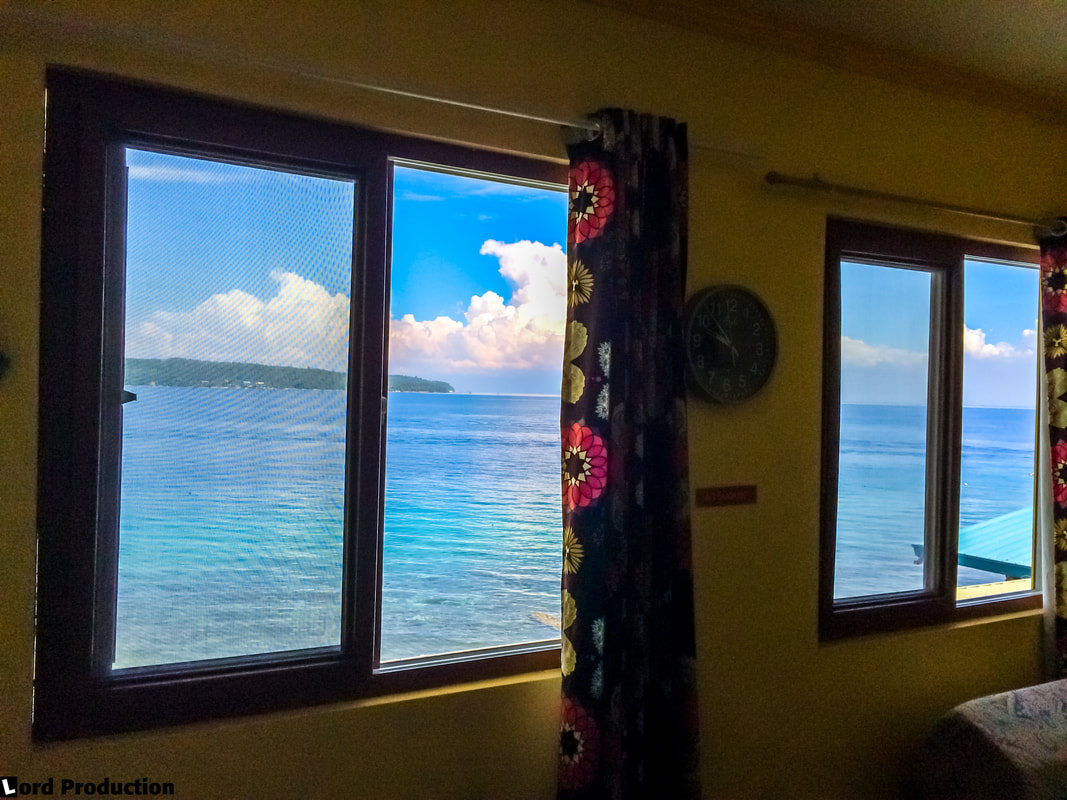 Reviews of hotels in Philippines Samal Island The Red Parrot Inn View from room © Patrik Lord Travel Blog