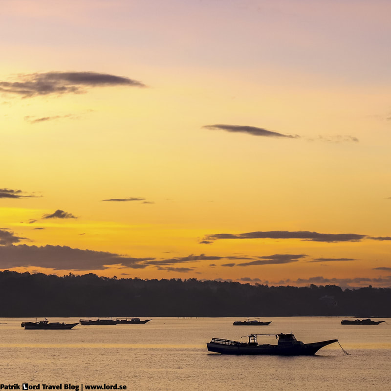 Sunset with boats, Panglao, Philippines © Patrik Lord Travel Blog