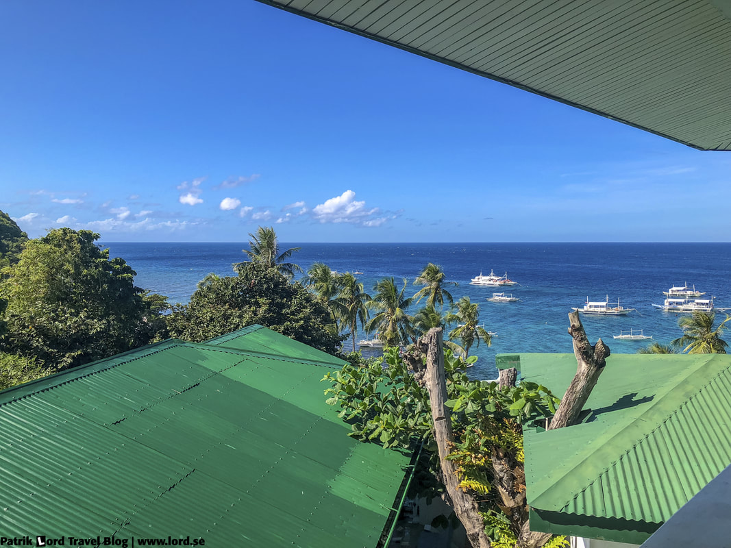 View from our room, Apo Island, Philippines © Patrik Lord Travel Blog